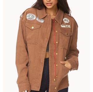 Brown oversized jacket